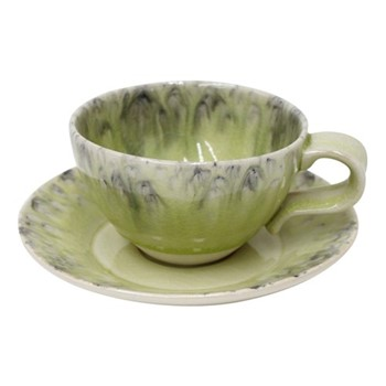 Madeira Set of 6 teacups and saucers, 25cl, lemon green