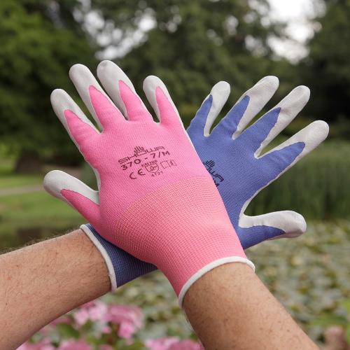Gardening gloves, medium, Pink