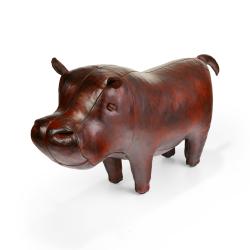 Hippopotamus Animal footstool, L630 x W250 x H380mm, cowhide leather