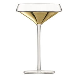 Space Pair of champagne/cocktail glasses, 240ml, gold