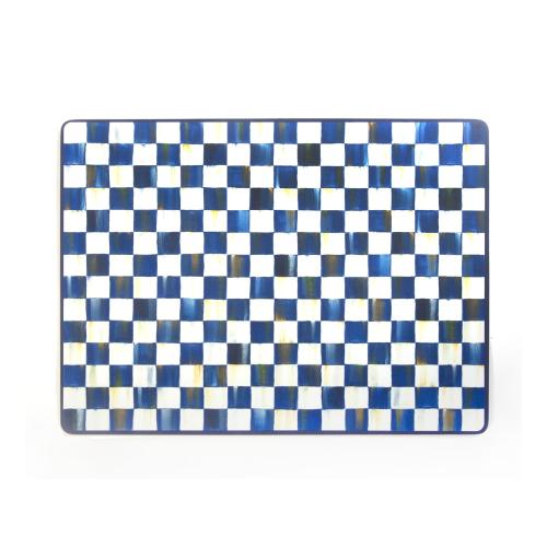 Royal Check Set of 4 placemats, 40 x 28cm, Blue & White
