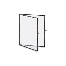 "Danta Folded portrait frame, 8 x 10"", Antique Black"