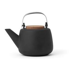 Nicola Teapot, 1.2 litre, black