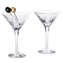 Trafalgar Single martini glass, crystal with vertical etchings