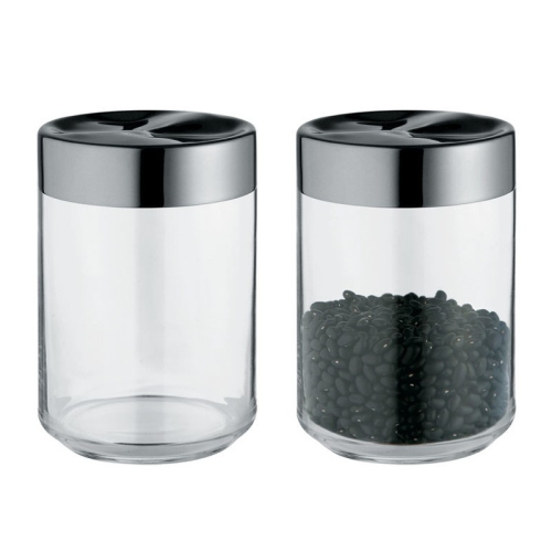 Julieta by Lluis Clotet Kitchen box, 10.5 x 15.8cm - 1 litre, stainless steel and glass