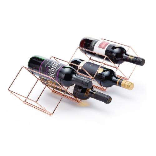 Stackable wine rack, 58 x 14.5 x 14.5cm, Copper Finish