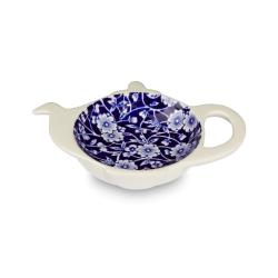 Calico Teapot tray mini, H2.5 x W13.5 x D10cm, Blue