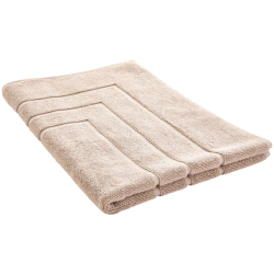 Egyptian Cotton Luxury Bath mat, 60 x 90cm, Natural