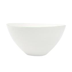 Abbesses Pair of large bowls, large - D24 x H11.4cm, Green Rim