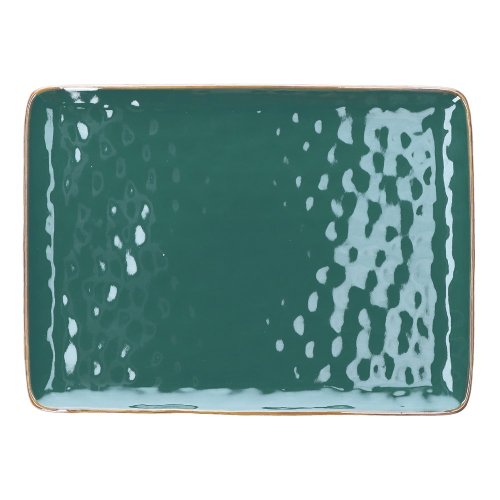 Concerto Rectangular tray, L36 x W26.5cm, Teal Blue