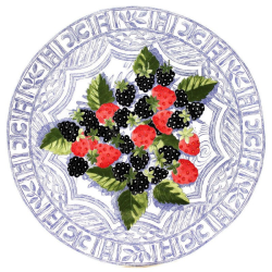 Oiseau Bleu Fruits Cake platter, 30cm