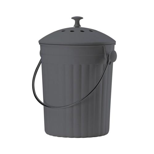Eco compost pail, 28 x 18cm - 4.5 litre, Black