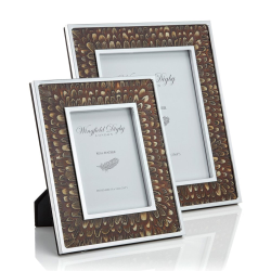"""Feather and Glass Photo frame, 8 x 10"""", Cock Pheasant"""