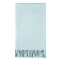 Plain Cashmere woven bed throw, 230 x 150cm, spearmint