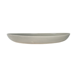 Shell Bisque Salad serving bowl, 35.6 x 5.1cm, Grey