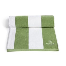 Babington House pool towel, sage green