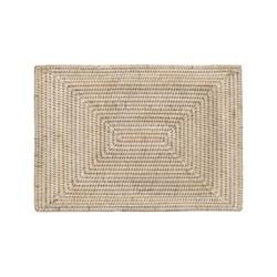 Ashcroft Set of 6 placemats, L42 x W30 x H1cm, rattan