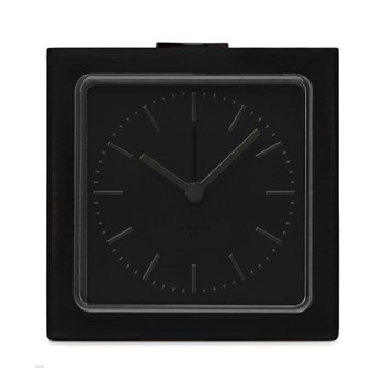 Block Alarm clock, H8.5 x L8.5 x D6cm, black