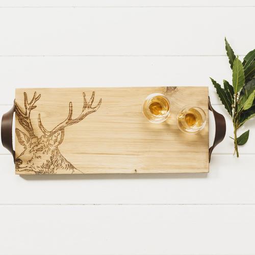 Stag Serving tray, L45 x W20 x H2cm, Oak