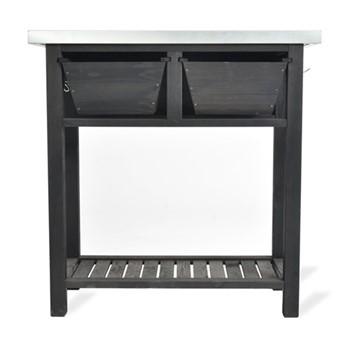 Moreton Potting bench, 91 x 89 x 40cm, black