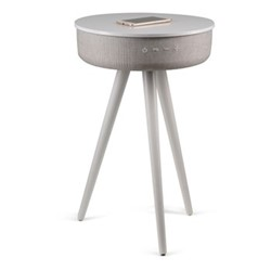 Milo Smart charging side table, H63.5 x W41 x D41cm, white and grey