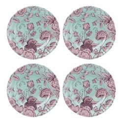 Kingsley Set of 4 plates, 20cm, teal
