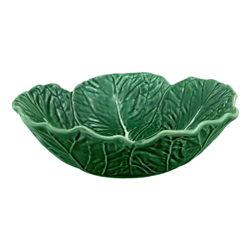 Cabbage Serving bowl, 29 x 8cm, Green