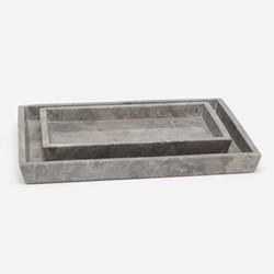 Veneto Pair of trays, gray polished marble