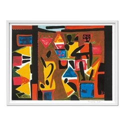 Francoise Gilot Art edition no. 121–180 'music in senegal', L26 x W2.6 x H36cm