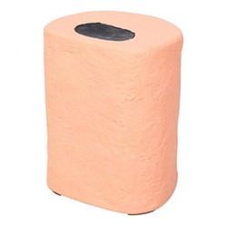 Pick 'n' Mix Round sweet stool, H40 x W31 x D25cm, orange/black
