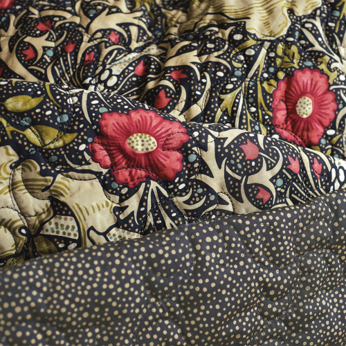 Morris Seaweed Double duvet cover, L200 x W200cm, Black