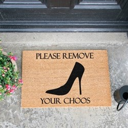 Remove Your Choos Doormat, L60 x W40 x H1.5cm