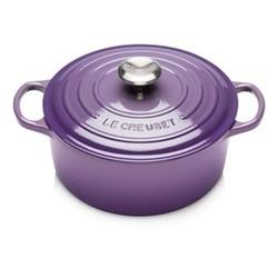 Signature Cast Iron Round casserole, 24cm, Ultra Violet