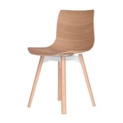 Oak chair H76.5 x W46 x D46cm
