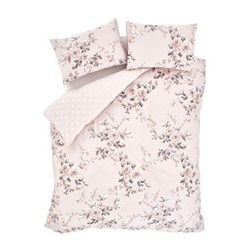 Canterbury Super king size duvet set, 220 x 260cm, blush