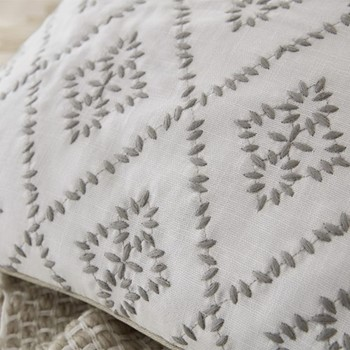 Sundial Cushion, L40 x W40 x H10, linen