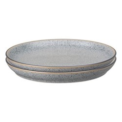Studio Grey Set of 4 coupe dinner plates, 26cm, granite