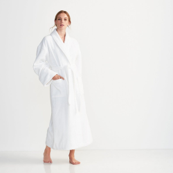 Classic Cotton Bath robe, large, White