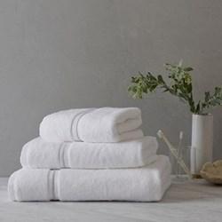 Savoy Bath towel, 70 x 125cm, white and silver