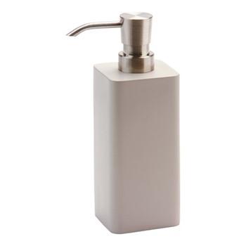 Ona Large soap dispenser, 6.3 x 6.3 x 17.2cm, greige