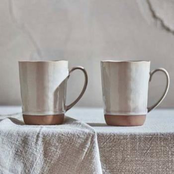 Mug, Edo, Terracotta, Large, Set of 2