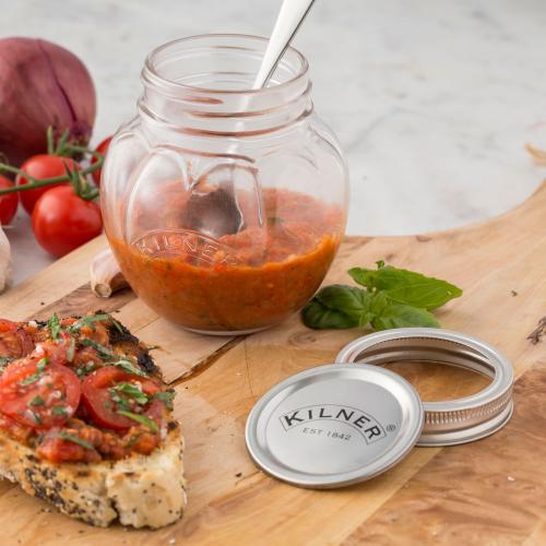 Tomato Set of 2 preserve jars, 400ml
