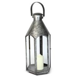 Belize Small lantern, H47 x L20 x D20cm, galvanised steel