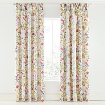 Chinese Bluebird Curtains, L183 x W168cm, multi