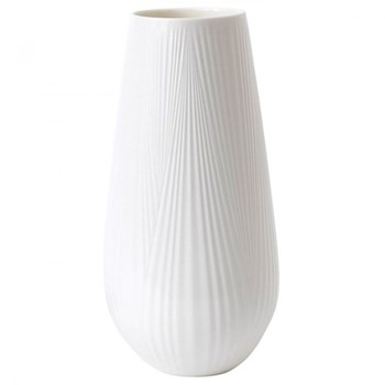 White Folia Tall vase, 30cm