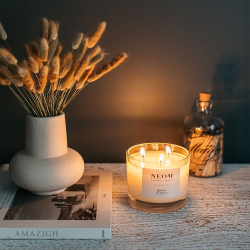Scent to De-Stress 3 wick scented candle, White