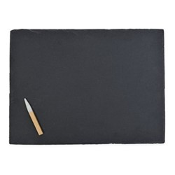 Large cheese board, W40 x D30cm, black