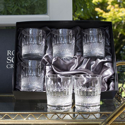 Eternity Set of 6 large tumblers, H9.5cm - 33cl, Clear