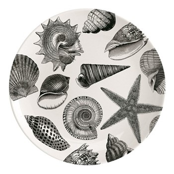 Seashore Plate, Dia25.5cm, black/white