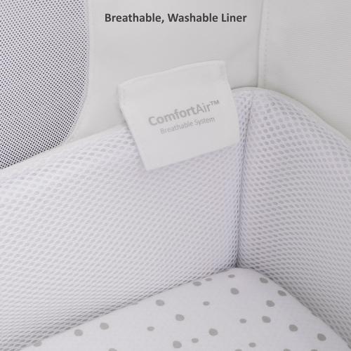 SnuzPod Bedside Crib, H49 x W95cm, White